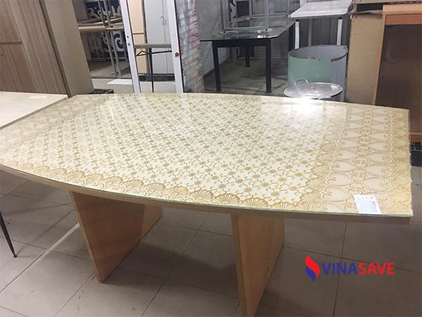VinaSave thanh lý giá tốt bàn họp cũ dành cho văn phòng, chất liệu gỗ công nghiệp - 980