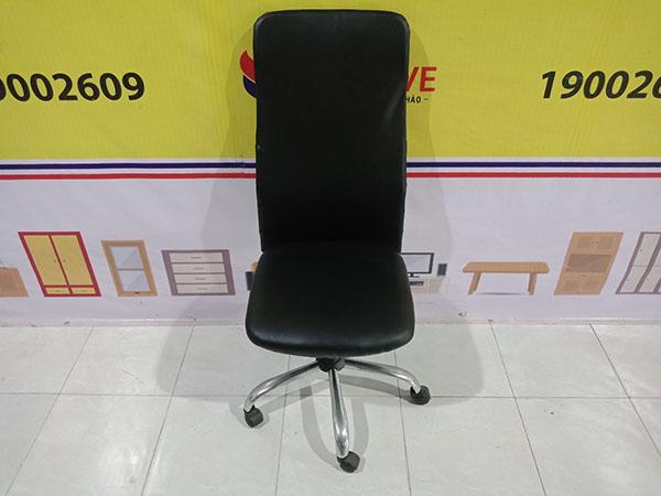 Thanh lý giá rẻ Ghế làm việc cũ kiểu dáng ghế xoay, lưng tựa cao, không tay vịn - 5478
