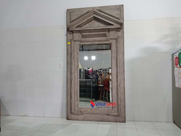Thanh lý gương khung gỗ tự nhiên đã qua sử dụng còn tốt, giá rẻ - 2055