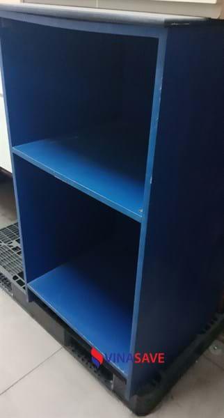 Thanh lý kệ hồ sơ cũ 2 ngăn, gỗ công nghiệp màu xanh giá tốt - 301