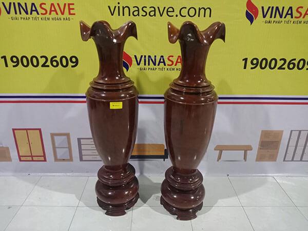Cặp lục bình gỗ Tràm bông vàng 125x35x35 cm