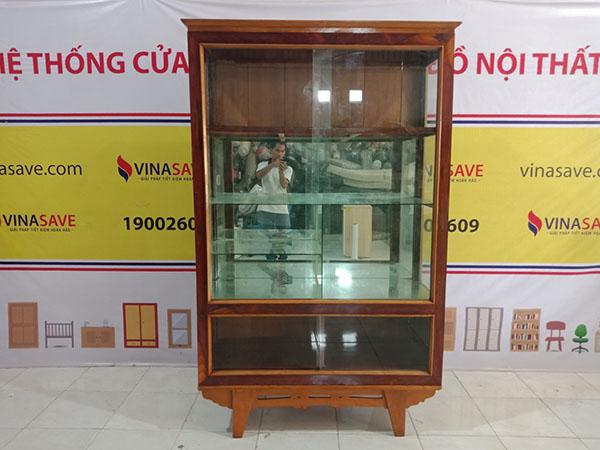 VinaSave thanh lý Tủ ly cũ chất liệu gỗ Cẩm Lai cao cấp, giá tốt nhất - 5319