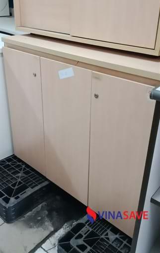 Thanh lý tủ hồ sơ cũ gỗ công nghiệp có 3 ngăn, có khóa chắc chắn - 296