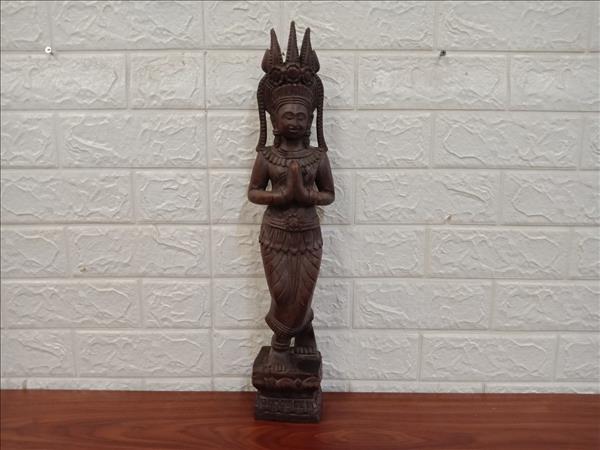 Tượng nữ thần gỗ Hương 50 x 11 x 7 cm