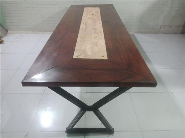 Bàn họp gỗ cao su cũ SP010894