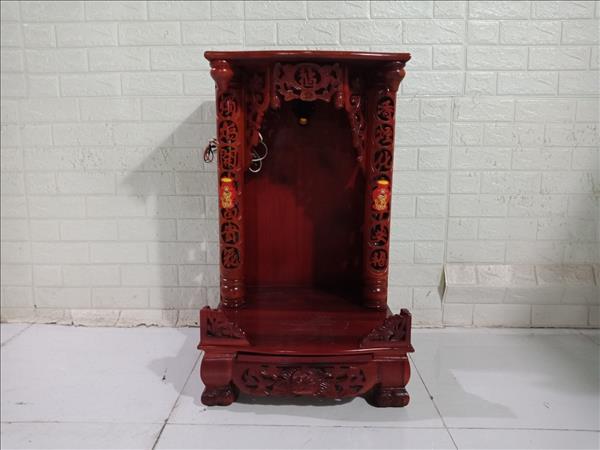 Bàn thờ ông địa gỗ cao su cũ SP010930