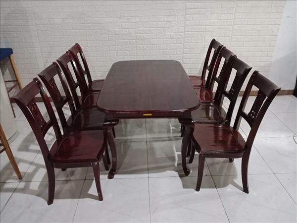 Bộ bàn ăn gỗ Xoan đào cũ SP010777