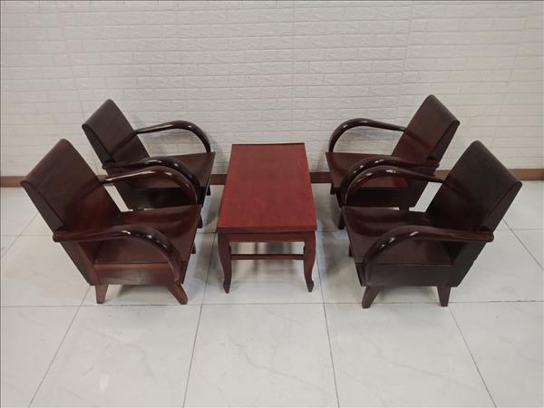 Bộ bàn trà gỗ Gõ đỏ cũ SP010847