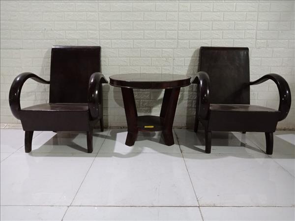 Bộ bàn trà gỗ Gõ đỏ cũ SP010959