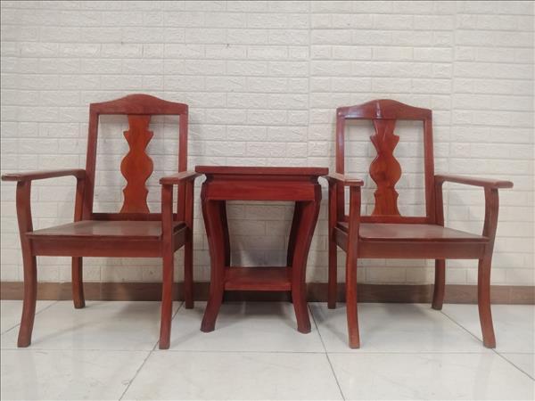 Bộ bàn trà gỗ Xoan đào cũ SP011115