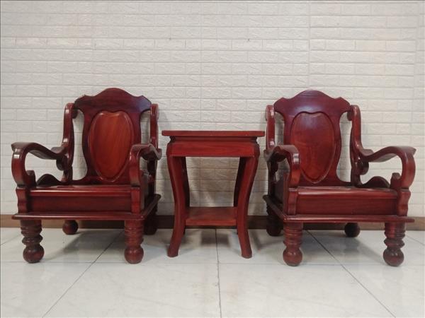 Bộ bàn trà gỗ Xoan đào cũ SP011117