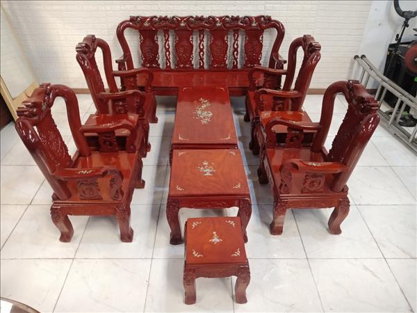 Bộ sofa gỗ Cẩm lai cũ SP011109