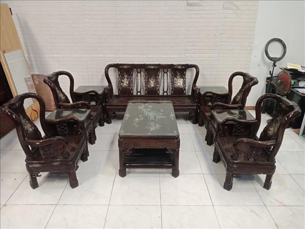 Bộ sofa gỗ Cẩm lai cũ SP011119