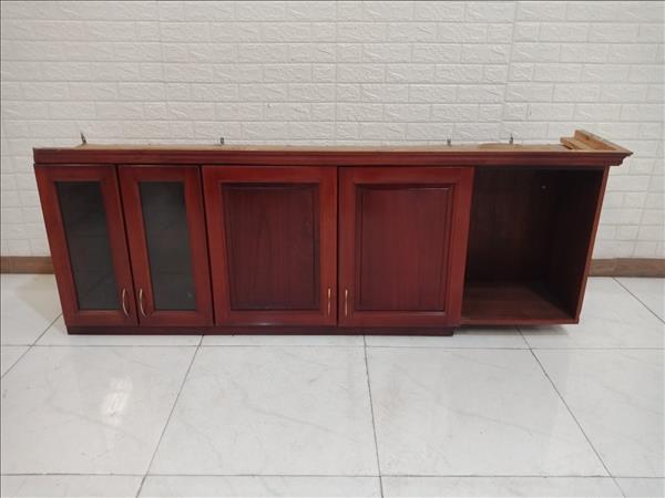 Kệ bếp trên gỗ cao su cũ SP010838