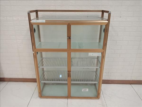 Tủ chén nhôm kính cũ SP010987