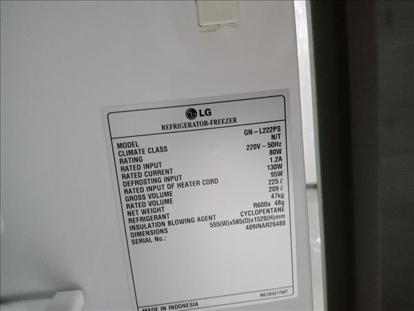Tủ lạnh LG GN-L222PS cũ
