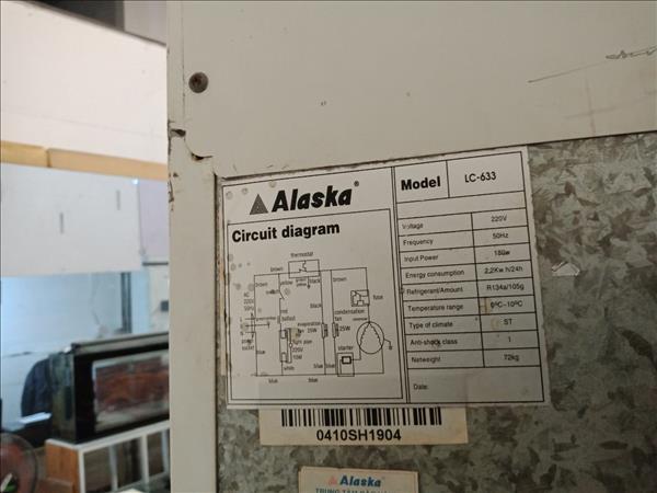 Tủ mát Alaska LC-633 cũ