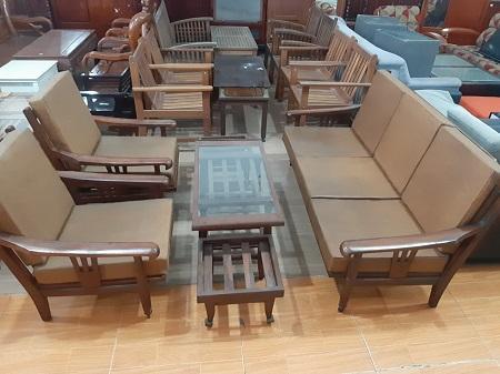 Bộ sofa gỗ Cẩm Lai cũ SP014721