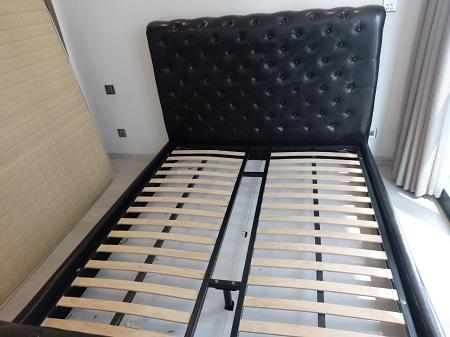 Giường da + nệm cũ SP014699