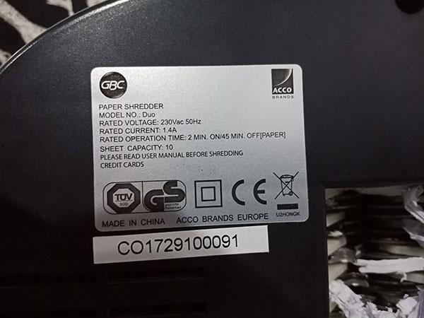 Máy hủy giấy SHRED MASTER DUO cũ SP005851