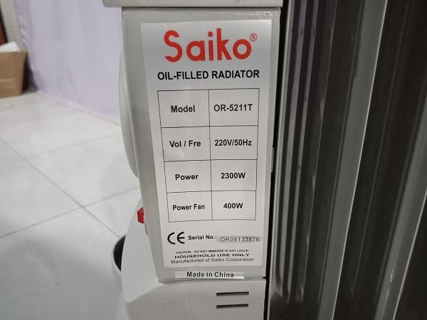 Máy sưởi Saiko cũ SP005796