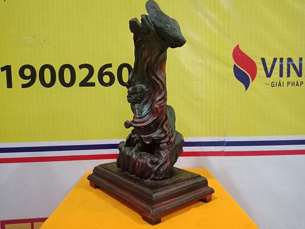 Tượng Đạt Ma múa võ gỗ Trắc 50x32x21 cm