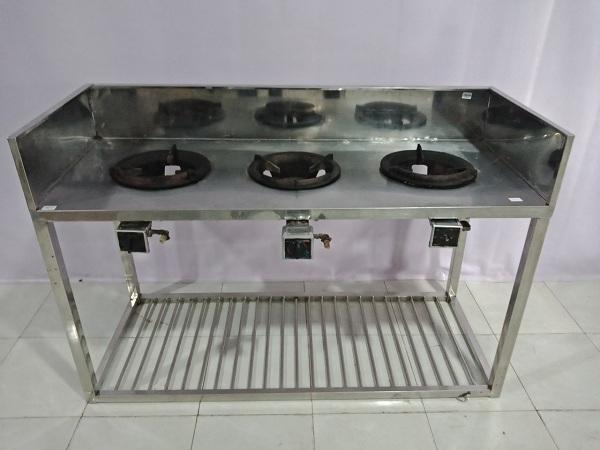 Xả kho thanh lý Bếp gas cũ kiểu bàn bếp gồm 3 bếp nấu, dễ dàng sử dụng - 6177