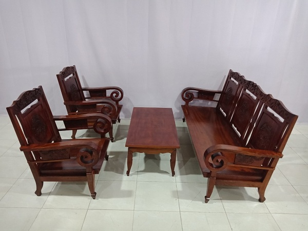 Bộ sofa gỗ Gõ đỏ cũ SP006119