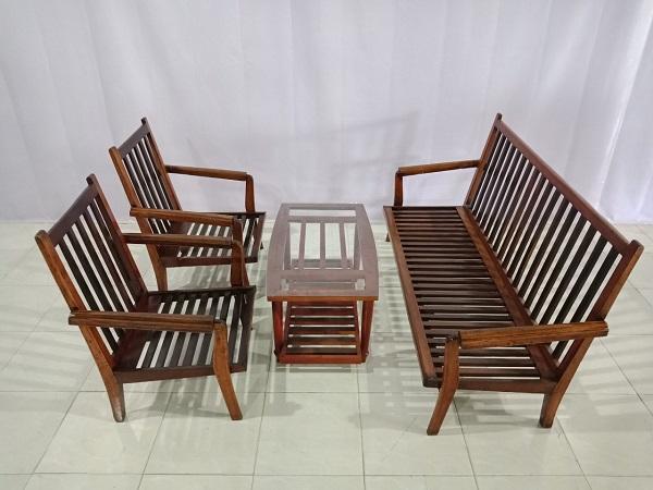 Thanh lý nhanh Bộ sofa gỗ cũ giá tốt được làm bằng gỗ tự nhiên cao cấp -5652