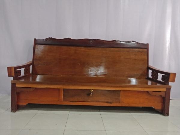 Thanh lý Trường kỷ cũ chất liệu gỗ Giáng Hương kết hợp Căm xe - 6125