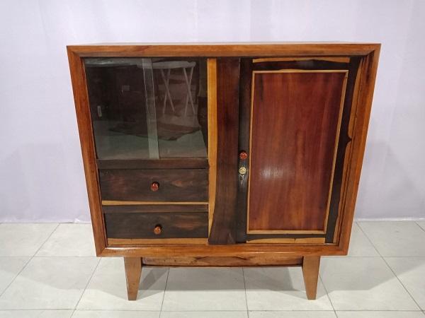 Thanh lý gấp Tủ búp phê cũ có kích thước nhỏ gọn, làm bằng gỗ tự nhiên cao cấp -5857