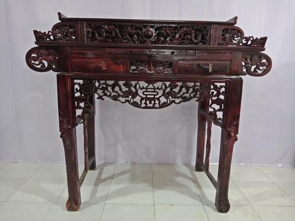 Bàn thờ gỗ Muồng đen cũ SP006116
