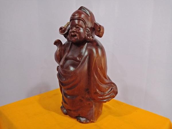 Tượng Thần Tài gỗ Hương 54x35x25 cm