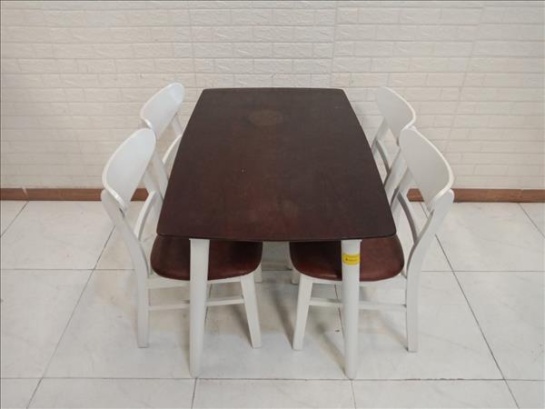 Bộ bàn ăn gỗ cao su cũ SP011293
