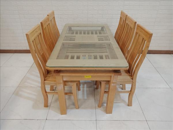Bộ bàn ăn gỗ Sồi mới 100% SP011258