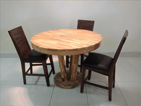 Bộ bàn ăn gỗ tự nhiên cũ SP011449