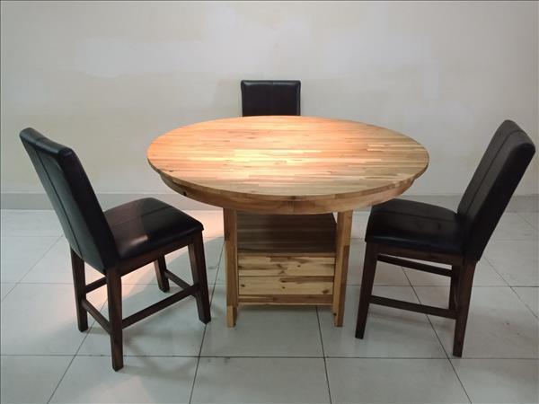 Bộ bàn ăn gỗ tự nhiên cũ SP011450