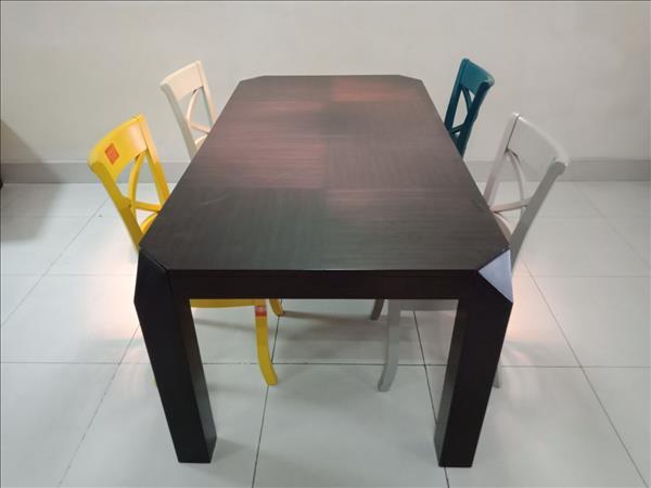 Bộ bàn ăn gỗ tự nhiên SP011680
