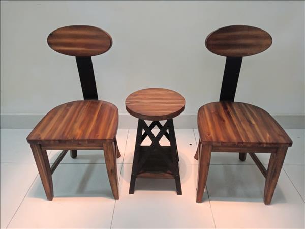Bộ bàn trà gỗ tự nhiên cũ SP011484