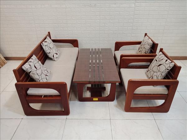 Bộ sofa gỗ Óc chó cũ SP011139