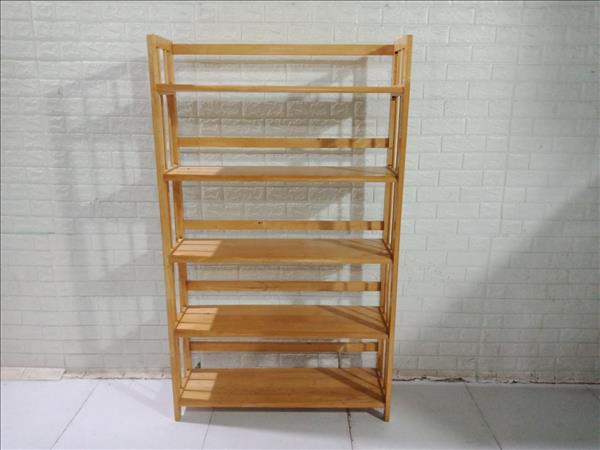 Kệ sách gỗ cao su cũ SP011233
