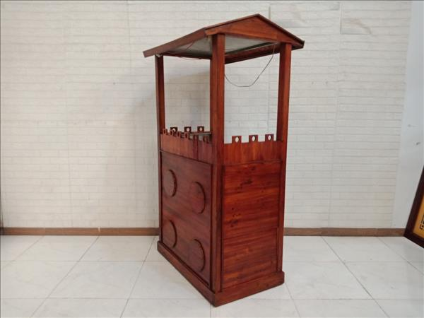 Xe bán hàng gỗ thông cũ SP011183