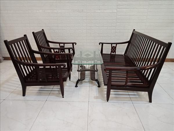Bộ sofa gỗ Cẩm lai cũ SP011128