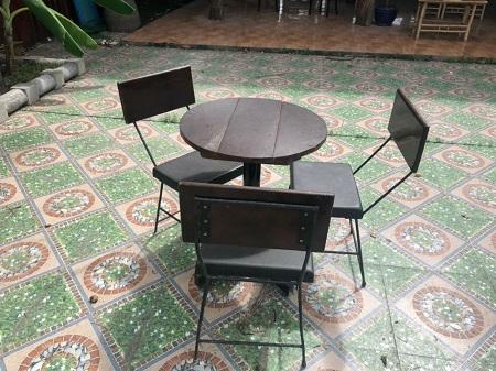 Bộ bàn cafe cũ SP014873