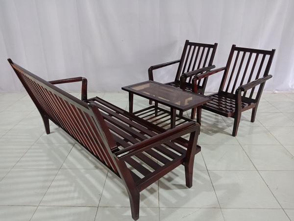 Bộ sofa gỗ Gáo vàng cũ SP006756