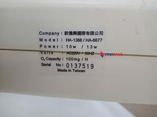 Máy tạo Ozone HA-1366 cũ SP000822