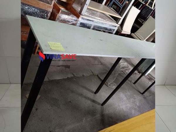 Thanh lý bàn bar kiểu băng dài chất liệu mặt đá, chân sắt - 1116