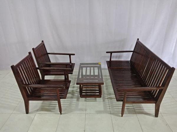 Bộ Sofa gỗ Căm xe cũ SP006604