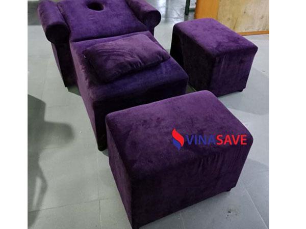 Ghế massage nằm màu tím cũ