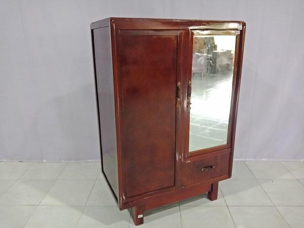 Thanh lý Tủ quần áo cũ thiết kế kiểu cổ xưa, chân cao, 2 khoang chứa - 6260